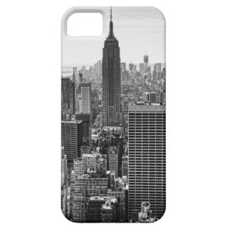 NY City Skyline Empire State Building, WTC BW iPhone 5 Cover