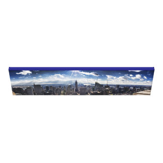 NY City Skyline Panarama Canvas Print