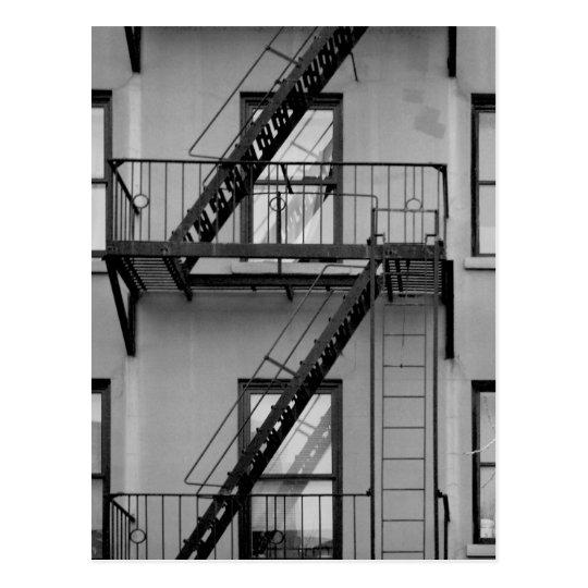 NY fire escape Postcard