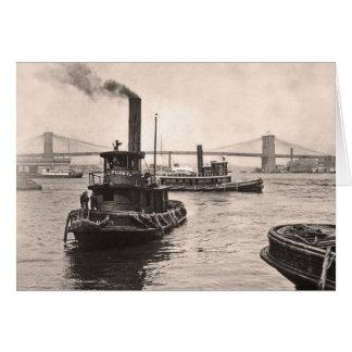 NY Harbor Tugs Card