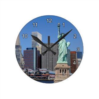 NY LIBERTY 2 ROUND CLOCK