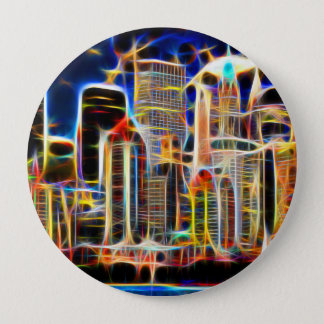 NY Manhattan 4 Inch Round Button