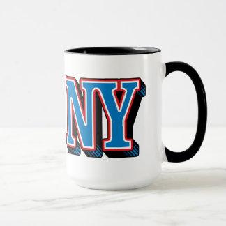 NY New York Black 15 oz Ringer Mug