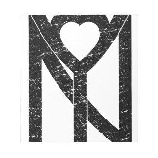 NY New York love Notepad