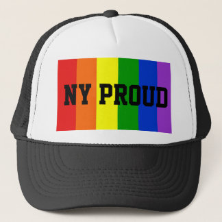 NY Proud Gay Rainbow Flag Ball Cap