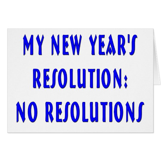 NY Resolutions Happy New Year Card
