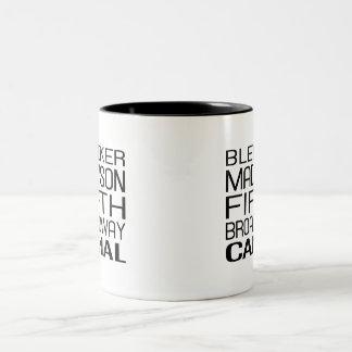 NY Streets Two-Tone Coffee Mug