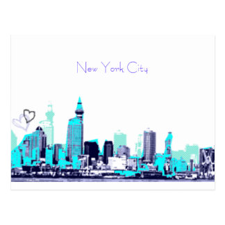 ny view, New York City Post Card