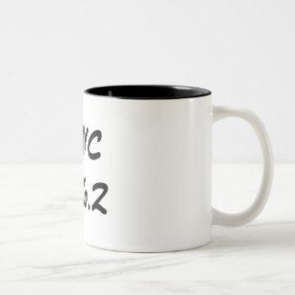 NYC 26.2 Two-Tone COFFEE MUG