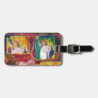 NYC 2 Statue of liberty windows luggage tag