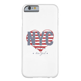 NYC American Flag Heart Barely There iPhone 6 Case