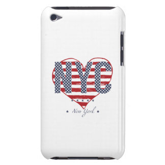 NYC American Flag Heart Barely There iPod Case