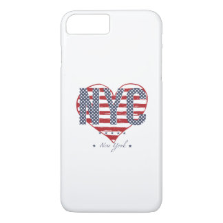 NYC American Flag Heart iPhone 8 Plus/7 Plus Case