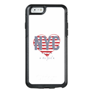 NYC American Flag Heart OtterBox iPhone 6/6s Case