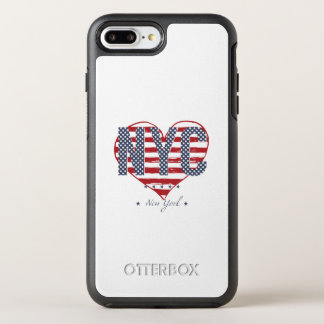 NYC American Flag Heart OtterBox Symmetry iPhone 8 Plus/7 Plus Case