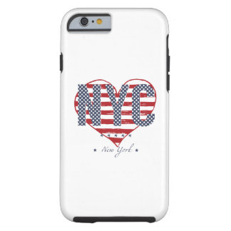NYC American Flag Heart Tough iPhone 6 Case