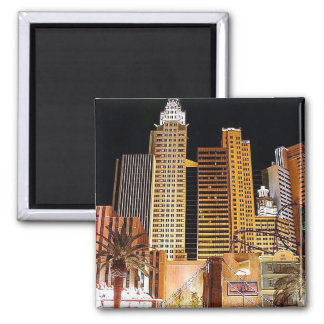 NYC at Night-Magnet Square Magnet
