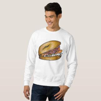 NYC Bagel Onion Cream Cheese Lox Capers Sweatshirt