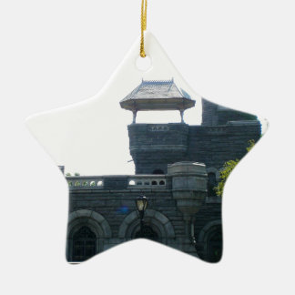 NYC Belvedere Castle Ceramic Star Ornament