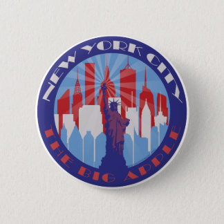 NYC Big Apple Patriot 2 Inch Round Button