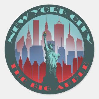 NYC Big Apple round Round Sticker