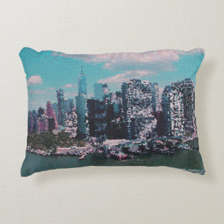 NYC Big Apple small dots graphic style Accent Pillow