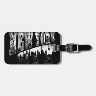 NYC Big Letters Luggage tag