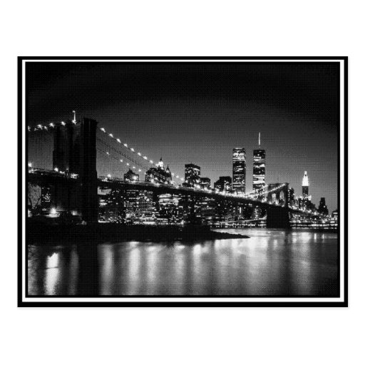 NYC black and white Post Card