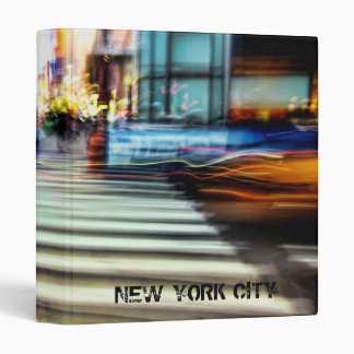 "NYC Blur Abstract 1"" Photo Album 3 Ring Binder"