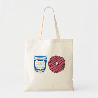 NYC Breakfast Cart Coffee Donut Doughnut Food Tote Budget Tote Bag