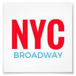 NYC Broadway Photo Print