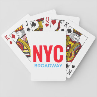 NYC Broadway Playing Cards
