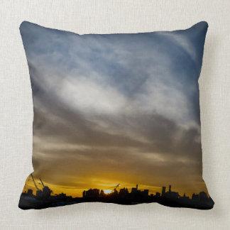 NYC Brooklyn Navy Yard Throw Pillow