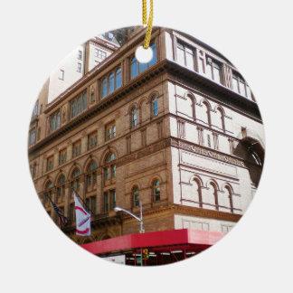 NYC Carnegie Hall Ceramic Ornament
