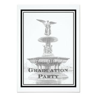 "NYC Central Park Bethesda Fountain DIY Graduation 5"" X 7"" Invitation Card"