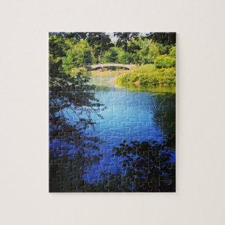 NYC Central Park Lake Bow Bridge New York City Jigsaw Puzzle