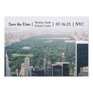 """NYC Central Park Photo - Save the Date 5"""" X 7"""" Invitation Card"""