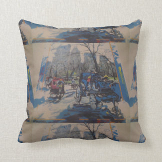 NYC Central Park prints throw pillow