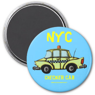 NYC, Checker cab cool magnet