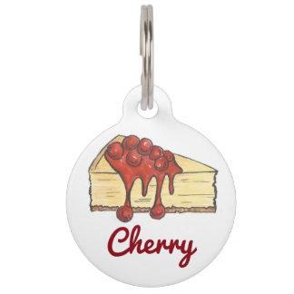 NYC Cherry Cheese Cake Cheesecake Dog Pet Tag