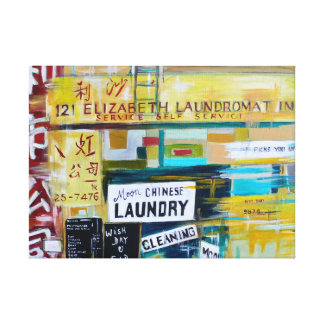 NYC Chinese Laundry Canvas Print