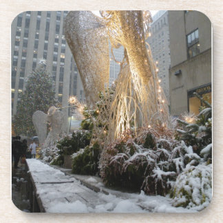 NYC Christmas Angel Drink Coasters