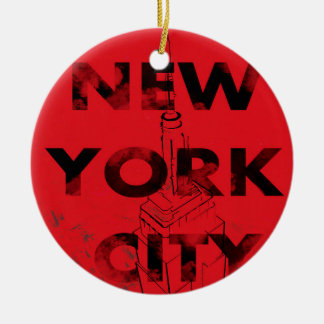 NYC Circle Ornament
