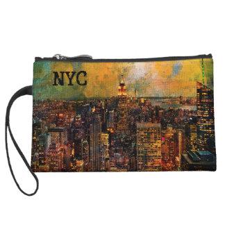 NYC Color Grunge Wristlet Clutch