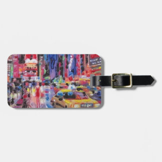 NYC Colorful painting Luggage Tag