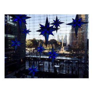 NYC Columbus Circle Christmas Decorations New York Postcard