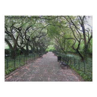 NYC Conservatory Garden Central Park Poster