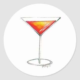 NYC Cosmo Cosmopolitan Cocktail Cocktails Stickers