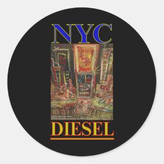 NYC DIESEL ROUND STICKER