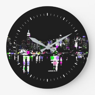 NYC Empire Night Large Clock